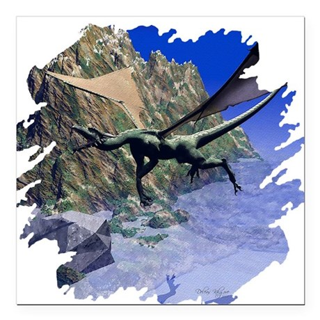 "dragon3lg2.png Square Car Magnet 3"" x 3"""