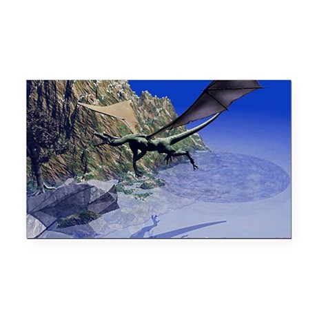 dragon3lg2.png Rectangle Car Magnet