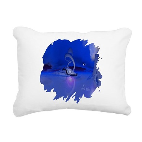dragon1b2.png Rectangular Canvas Pillow