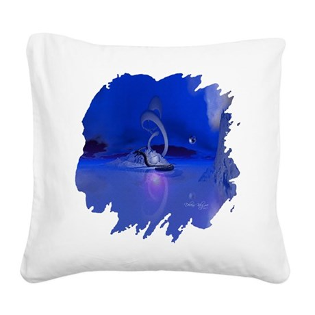 dragon1b2.png Square Canvas Pillow
