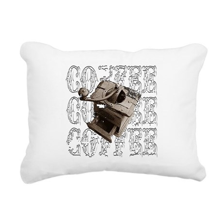 coffee3e.png Rectangular Canvas Pillow