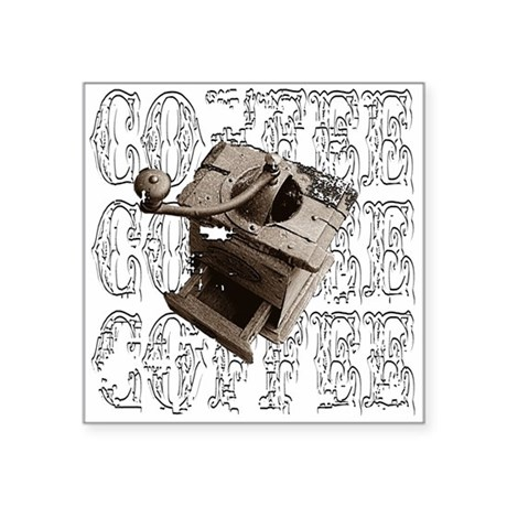 "coffee3e.png Square Sticker 3"" x 3"""