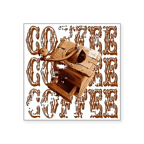 coffee3c.png Square Sticker 3&quot; x 3&quot;