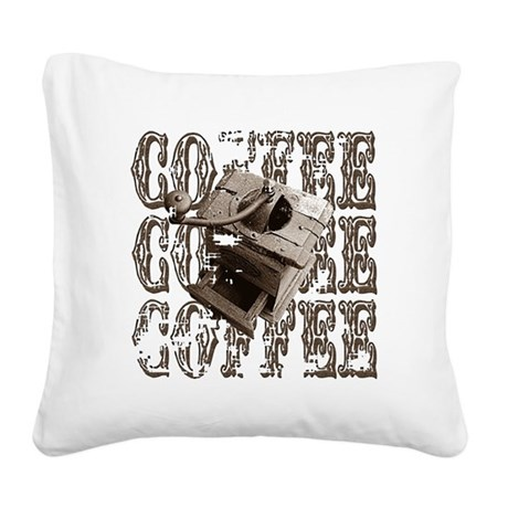 coffee3b.png Square Canvas Pillow