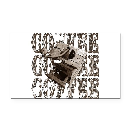 coffee3b.png Rectangle Car Magnet
