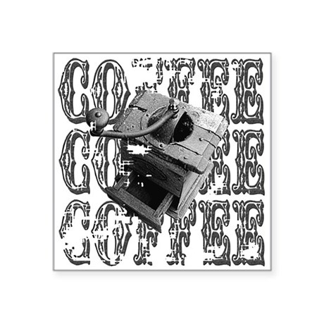 "coffee3a.png Square Sticker 3"" x 3"""