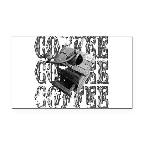 coffee3a.png Rectangle Car Magnet