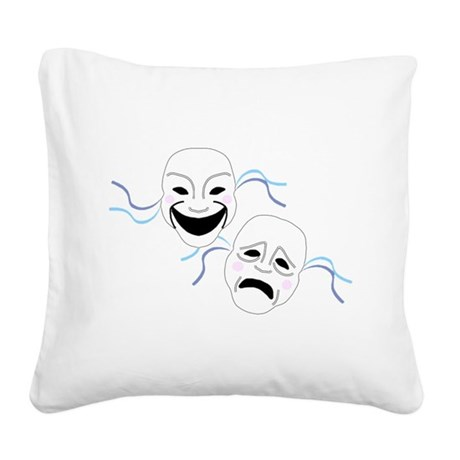 theater.png Square Canvas Pillow
