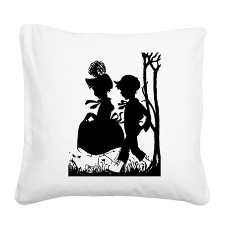 couple.png Square Canvas Pillow