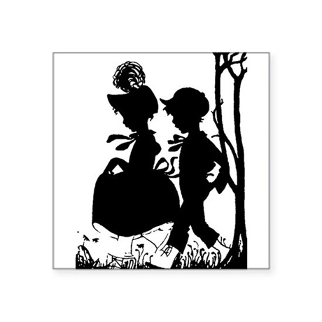 "couple.png Square Sticker 3"" x 3"""
