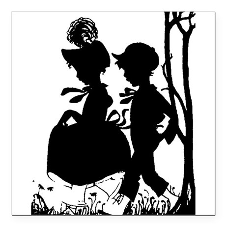 "couple.png Square Car Magnet 3"" x 3"""