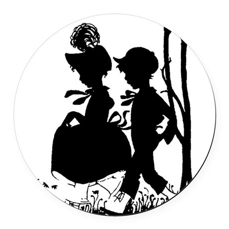 couple.png Round Car Magnet