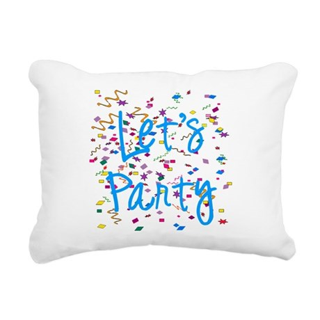 party.png Rectangular Canvas Pillow