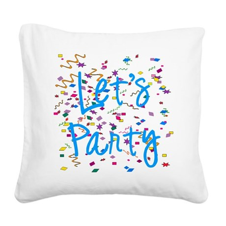 party.png Square Canvas Pillow