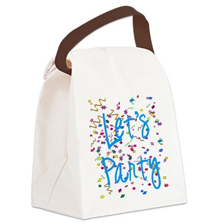 party.png Canvas Lunch Bag