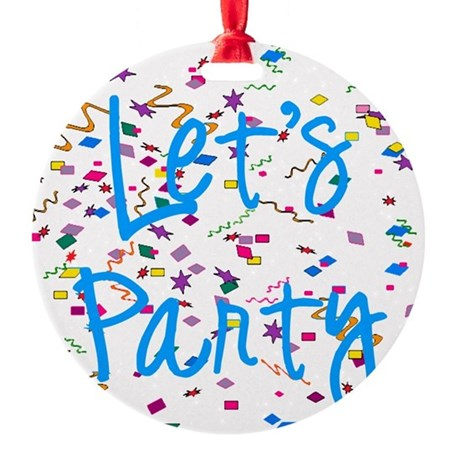 party.png Round Ornament