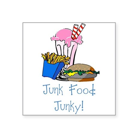 "junkfood Square Sticker 3"" x 3"""