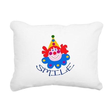 clown Rectangular Canvas Pillow