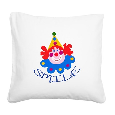 clown Square Canvas Pillow