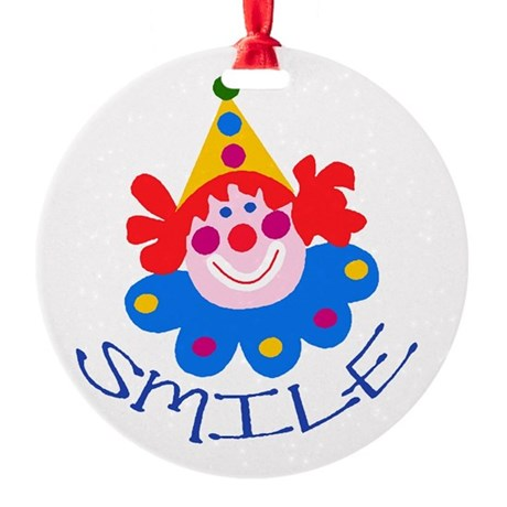 clown Round Ornament