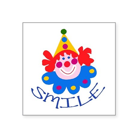 "clown Square Sticker 3"" x 3"""