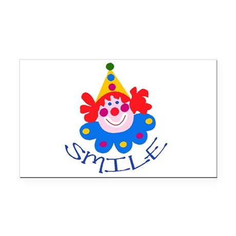 clown Rectangle Car Magnet