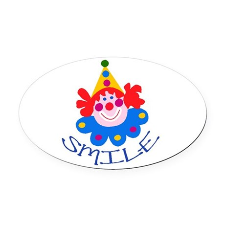 clown Oval Car Magnet