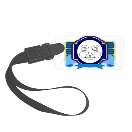 moon face Small Luggage Tag