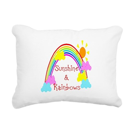 rainbow sunshine Rectangular Canvas Pillow