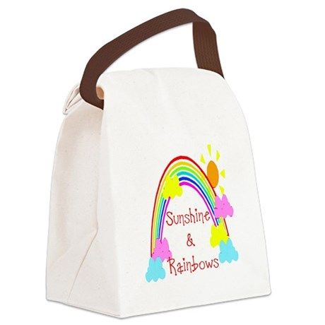 rainbow sunshine Canvas Lunch Bag