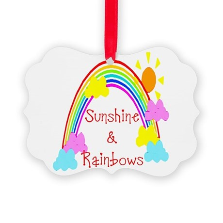 rainbow sunshine Picture Ornament