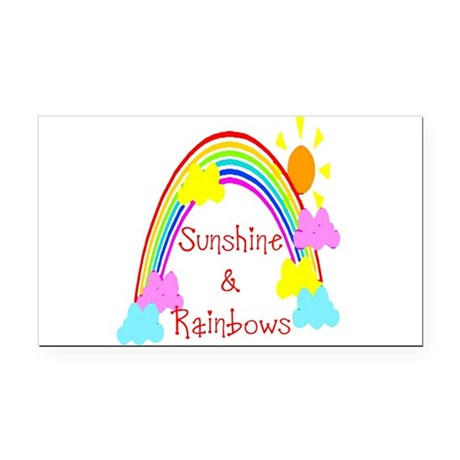 rainbow sunshine Rectangle Car Magnet