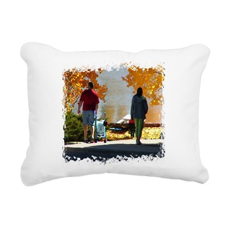 Autumn Stroll Rectangular Canvas Pillow