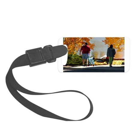 Autumn Stroll Small Luggage Tag