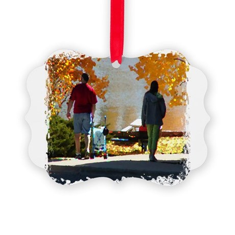 Autumn Stroll Picture Ornament