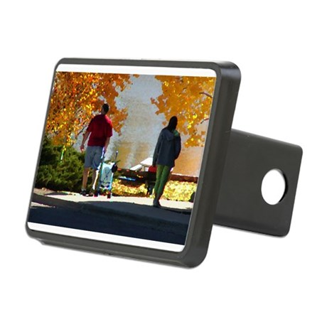 Autumn Stroll Rectangular Hitch Cover