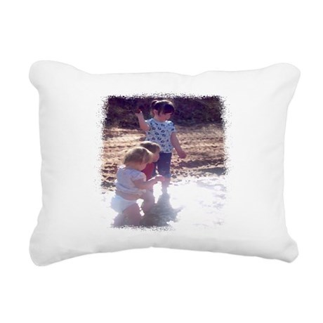 River Fun Rectangular Canvas Pillow