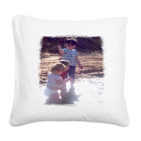 River Fun Square Canvas Pillow