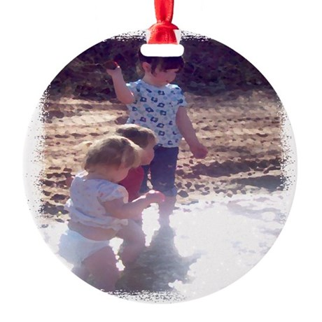 River Fun Round Ornament