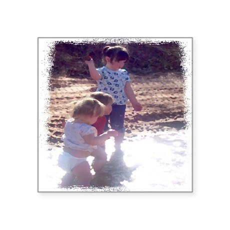 "River Fun Square Sticker 3"" x 3"""
