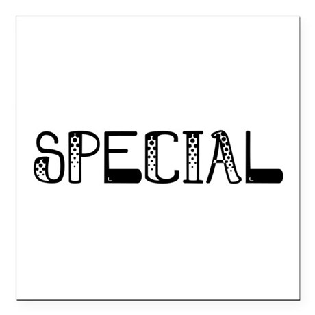 "Special Square Car Magnet 3"" x 3"""