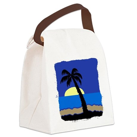 palm Canvas Lunch Bag