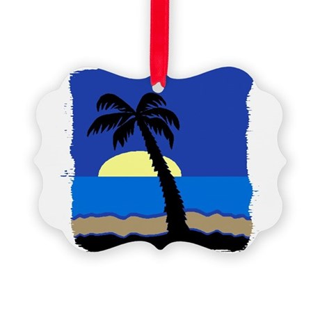 palm Picture Ornament
