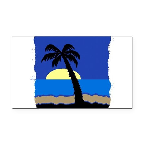 palm Rectangle Car Magnet