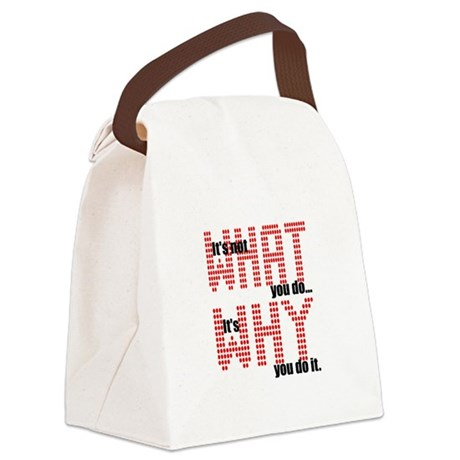 whatwhy.JPG Canvas Lunch Bag