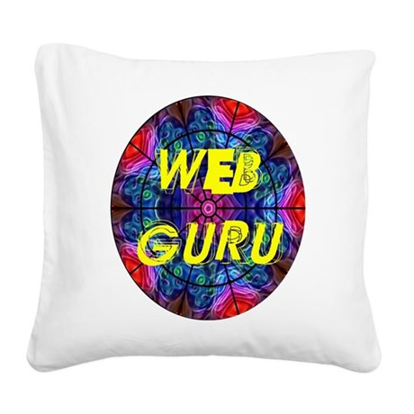 Web Guru Square Canvas Pillow