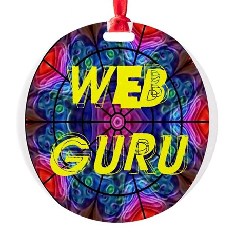 Web Guru Round Ornament