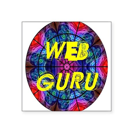 "Web Guru Square Sticker 3"" x 3"""