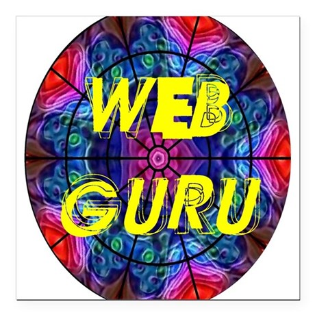 "Web Guru Square Car Magnet 3"" x 3"""