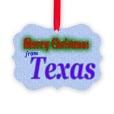 Merry Christmas from Texas Picture Ornament